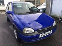 Vauxhall Corsa 1 litre, starts and drives very well, 1 years MOT (runs out February 2018), ideal fir