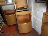 Bedside Cabinets LLoyd Loom Style