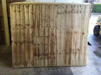 🌟Pressure Treated Feather Edge Timber Fence Panels