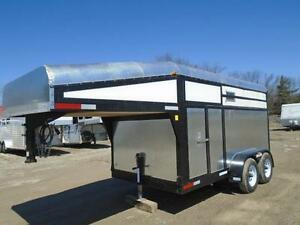 2014 Custom 2 Horse Straight Load / Stock Gooseneck Trailer SALE