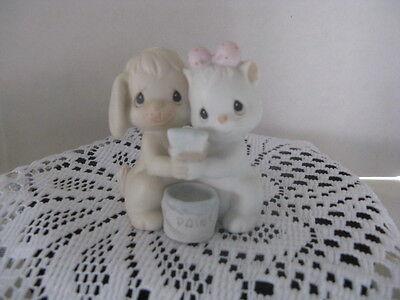 "Precious Moments ""True Blue Friends"" 1991 Members Only Figurine ~ **Gift Idea"