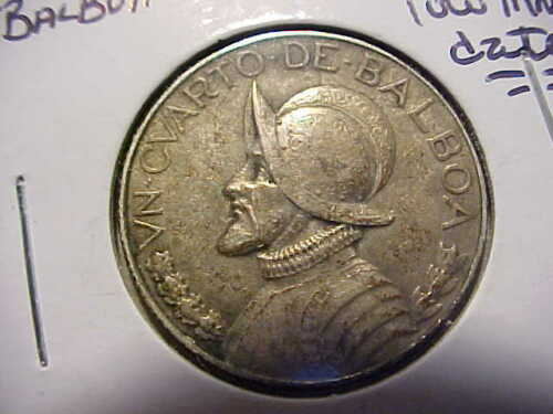 1932 Panama Silver 1/4 Balboa in XF *Low Mintage Date*