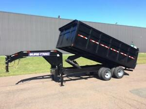 "NEW 2019 SURE-TRAC 96"" x 16' G/N DECK-OVER DUMP TRAILER"