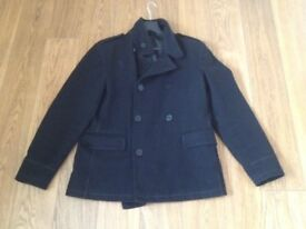Men's 40 inch coat, Black , Peter Werth of London
