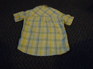 Boys Size 6X Yellow Plaid Short Sleeve Dress Shirt Kingston Kingston Area image 2