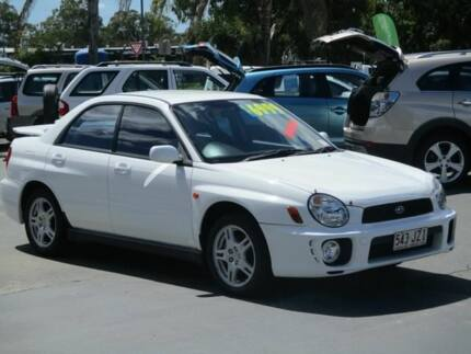 2002 Subaru Impreza S MY02 RS AWD White 4 Speed Automatic Sedan Lawnton Pine Rivers Area Preview