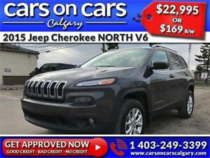 2015 Jeep Cherokee NORTH V6 w/Heated Seats, Terrain Select, Sunr