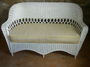 Bar Harbour Wicker Table Chairs - Antique Pieces