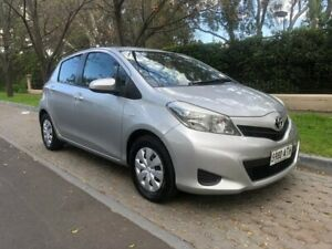 2012 Toyota Yaris NCP130R YR Silver Pearl 5 Speed Manual Hatchback Hawthorn Mitcham Area Preview