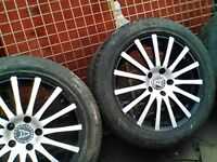 Five stud set ov 4 17inch alloys ,fit vw tigwan honda crv ect
