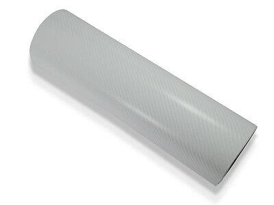4D struktur Weiß Carbon Folie 152 cm x 200 cm mit Luftkanäle
