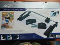 IQ Office Stationery Set With Guillotine, Hole Punch and Stapler Brand New