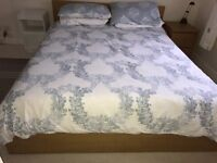 IKEA King Size Adjustamatic Oak bed excellent condition