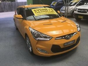 2013 Hyundai Veloster FS2 + Yellow 6 Speed Manual Hatchback Five Dock Canada Bay Area Preview
