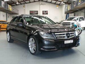 2013 Mercedes-Benz C250 W204 MY13 Avantgarde BE Magnetite Black 7 Speed Automatic G-Tronic Sedan Seven Hills Blacktown Area Preview