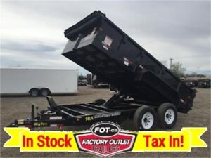 #1 Selling Dump Trailer >---> 14LX - 14' = ONLY $9,999 Tax In!!
