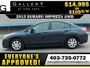 2013 Subaru Impreza 2.0i AWD $109 bi-weekly APPLY NOW DRIVE NOW