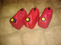 3 gas Tank Cans , Jerries