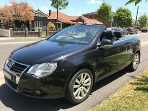 2007 Volkswagen EOS 1F MY09 103TDI DSG Black 6 Speed Sports Automatic Dual Clutch Convertible Croydon Burwood Area Preview