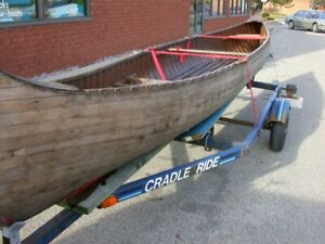 Very unusual Forward Facing Rowing canoe with articulated oars.