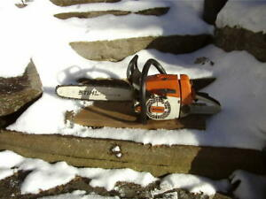 Stihl 026 chainsaw with Stihl bar and a new chain.