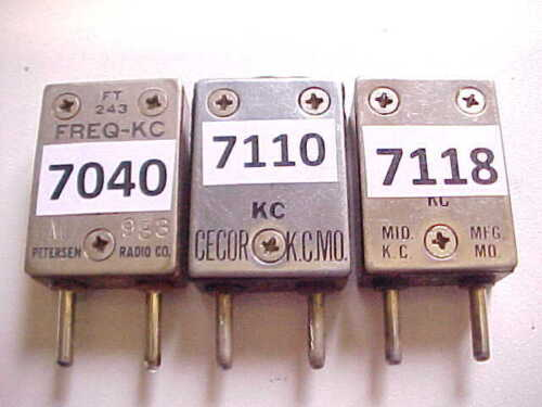 3 FT-243 RADIO CRYSTALS FOR THE OLD BOATANCHOR 40M CW TRANSMITTERS