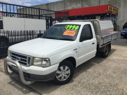 2005 Ford Courier PH GL MANUAL 3 SEATS WITH LOCKABLE TOOL BOXES LOW KLMS White 5 Speed Manual