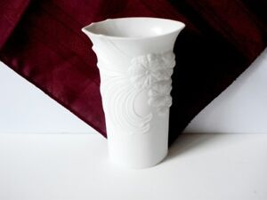 Kaiser Bisque White Porcelain Vase Signed M. Frey West Germany