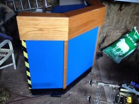 Reception Desk , Bespoke made up to 10 foot long (can be shortened)