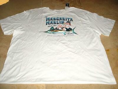 NWT NAUTICA BIG & TALL MARGARITA MARLIN LAND HO T-SHIRT WHITE SZ 4X 4XT 4XLT