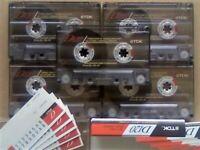 JL CHEAPEST ONLINE 5x TDK D 120 D120 CASSETTE TAPES 1990-1991 W/ CARDS CASES LABELS ALL VGC