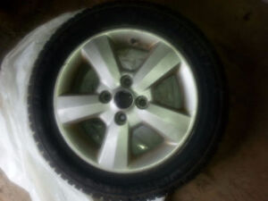 Four Winter Tires on Steel Rims Like New !!!!