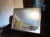 LARGE MIRROR SILVER FRAME