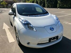 2015 Nissan Leaf ZE0 White 1 Speed Automatic Hatchback Five Dock Canada Bay Area Preview