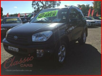 2000 Toyota RAV4 ACA20R Cruiser (4x4) Black 5 Speed Manual 4x4 Wagon Lansvale Liverpool Area Preview