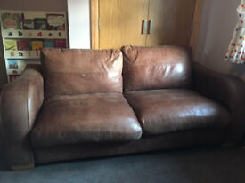 Brown Leather Couch (John Lewis)