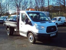 Ford Transit T350 Lwb Double Cab Tipper tdci 100ps DIESEL MANUAL WHITE (2014)