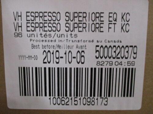 Van Houtte Espresso Superiore Dark Roast Coffee Keurig K-Cup 96 Count
