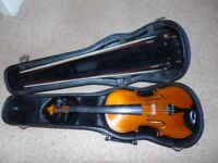Full Sized Violin in a Hard Case