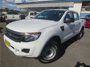 2014 Ford Ranger PX XL Double Cab White 6 Speed Sports Automatic Utility Cardiff Lake Macquarie Area Preview