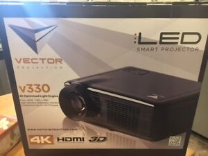 Vector v330 Projector with 72 inch digital projection screen