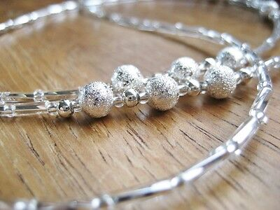 Spectacle Chain for Reading Glasses Sun Glasses, Silver Mixed Beads. UK Handmade