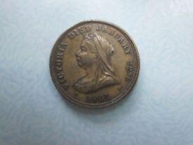 Queen Victoria 1901 & King Edward V11 & Queen Alexandra. Commemorative Medal