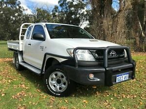 2011 Toyota Hilux KUN26R MY10 SR Xtra Cab White 5 Speed Manual Cab Chassis Embleton Bayswater Area Preview