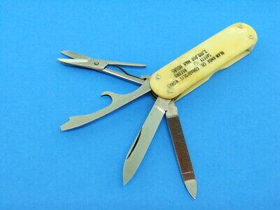 VINTAGE HUDSON LINE FOLDING GADGET LOBSTER ADVERTISING POCKET KNIFE KNIVES TOOLS