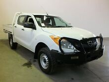 2013 Mazda BT-50 XT (4x4) NO Diff Locks White 6 Speed Manual Dual Cab Chassis Westdale Tamworth City Preview