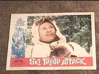 SKI TROOP ATTACK 1960 LOBBY CARD #6  ROGER CORMAN EXPLOITATION