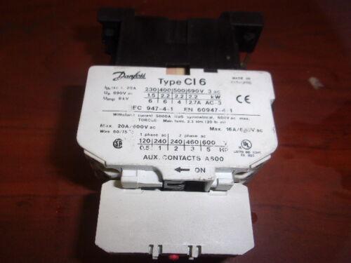 Danfoss Type  CI 6 WITH TYPE CB-NC CONTACTOR