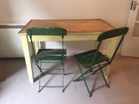 Small antique table - seats 4. Perfect as a dining table for a small flat
