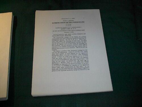 """Gore vs Bush"" Supreme Court & Florida Supreme Court Ruling Papers  2000"